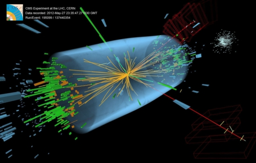 The CMS Experiment (C) CERN. An image from the CERN CMS Higgs boson search experiments. The particle detection systems used in these experiments utilise Element Six synthetic diamond as their first line of defence against beam-induced radiation damage.   source:	Element Six Ltd