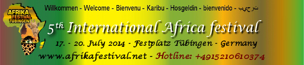 Germany´s International African Festival Tübingen 17th – 20th July 2014