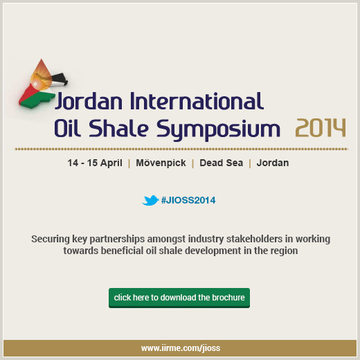 Major Oil Shale Projects To Be Discussed At Jordan International Oil Shale Symposium 2014