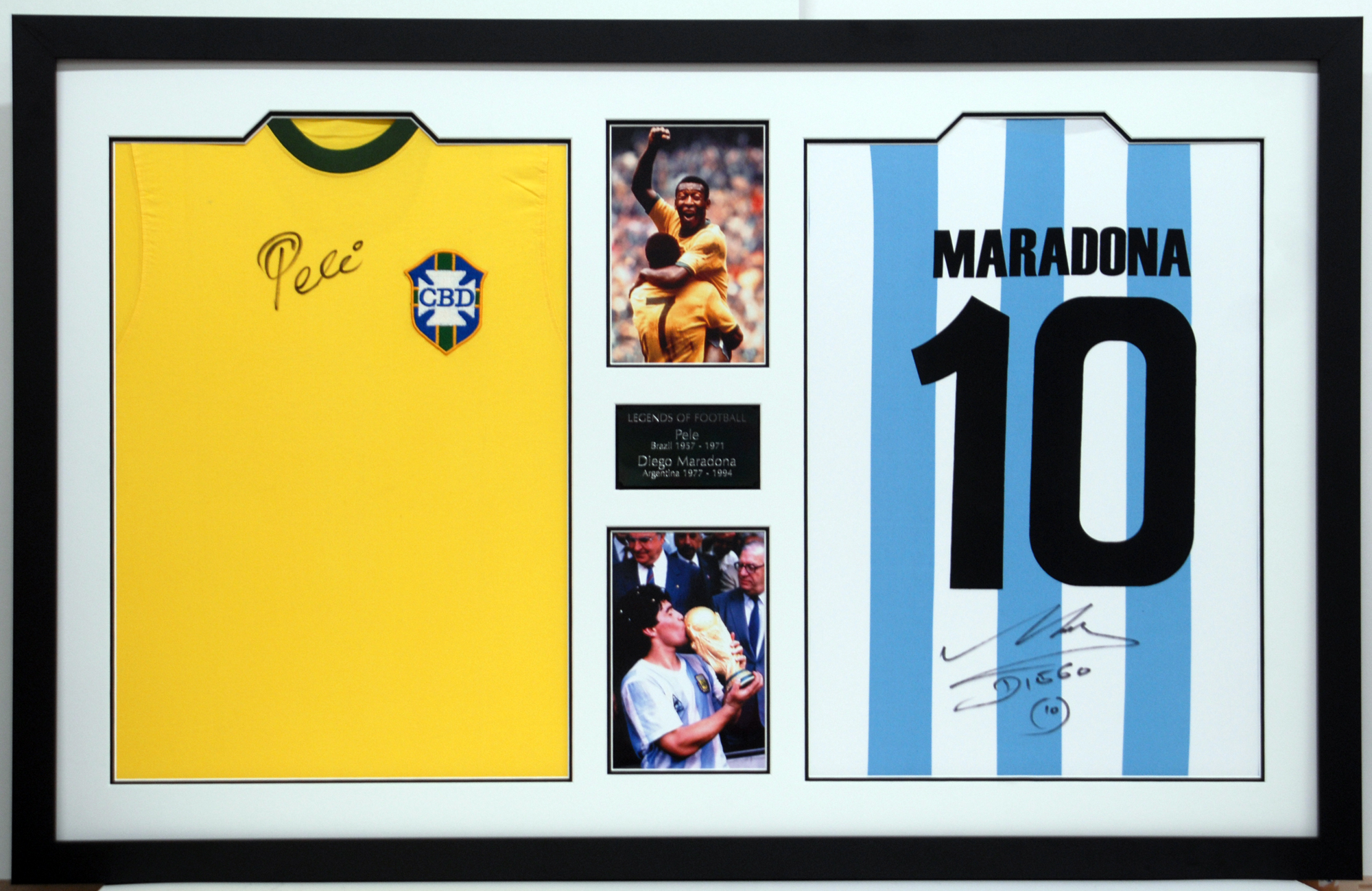 Business gives away signed football shirts from the world's footballing legends