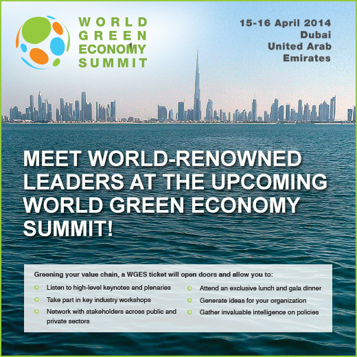 Dubai to host first Green Economy Summit in the MENA region