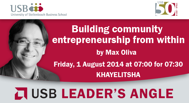 Building community entrepreneurship: hosted in Khayelitsha