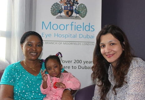 Moorfields Eye Hospital Dubai gifts eye surgery to 2-year old baby from Nigeria