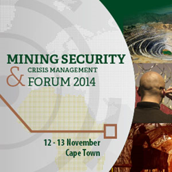 Mining Security & Crisis Management to be discussed on 12-13 November at high-level Summit in Cape Town