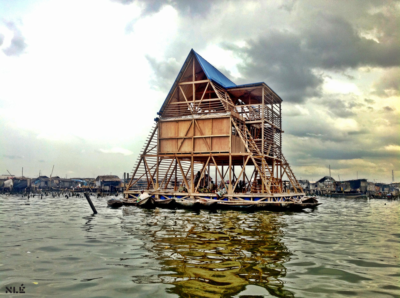 Floating school in Makoko slum nominated for global Design Of The Year