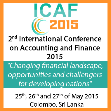 TIIKM's 2nd Annual International Conference on Accounting and Finance 2015