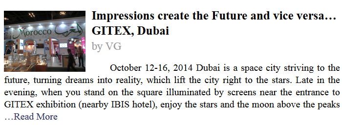 Impressions create the Future and vice versa… GITEX, Dubai