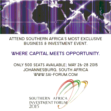 $500 billion worth of deals to be sealed at the Southern Africa Investment Forum 2015