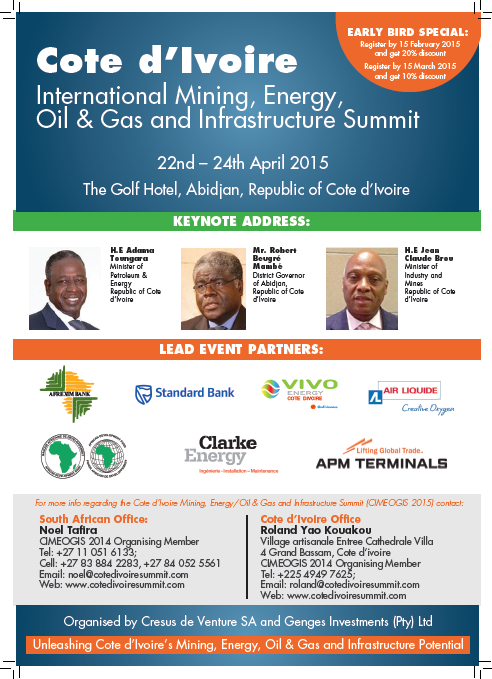 The Cote d'Ivoire's International Mining, Energy/Oil &Gas and Infrastructure Summit