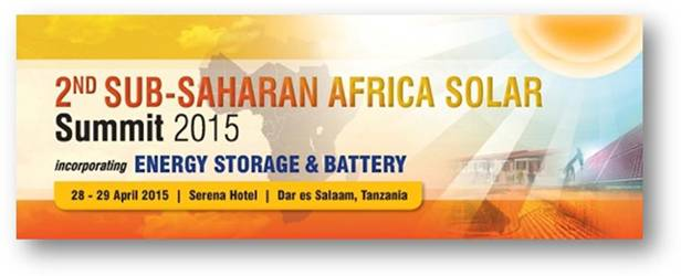 2nd Sub-Saharan Africa Solar Summit 2015 and Energy Storage & Battery