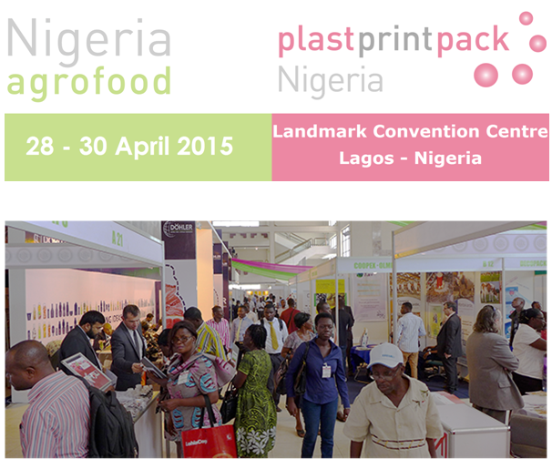 The 1st agrofood & plastprintpack Nigeria on 28-30 April at the Landmark Centre in Lagos