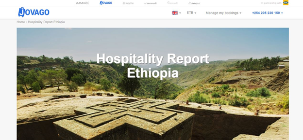 Africa's leading hotel booking website released an analysis of Ethiopian tourism industry