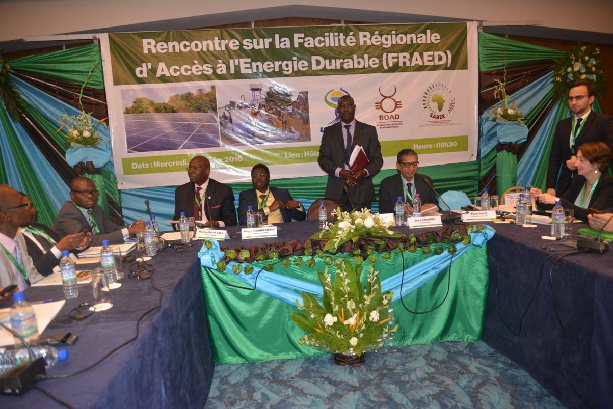 Les institutions de l'UEMOA accélèrent la mise en place de la Facilité Régionale d'Accès à l'Energie Durable