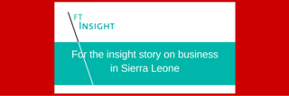 Invest Sierra Leone – Sierra Leone's only annual investment forum returns to London