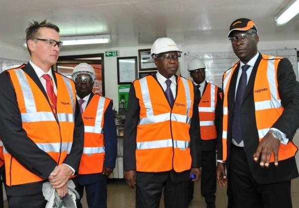 Minister Toungara Hosts Visiting UK Minister at Abidjan Power Facility