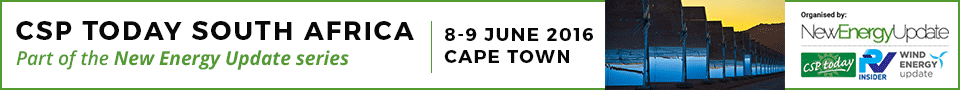 400+ attendees, 50+ speakers and 20+ sponsors are gathering 8-9 June in Cape Town for the New Energy Update series of conferences, comprising of CSP Today South Africa, PV Insider South Africa and Wind Energy Update South Africa