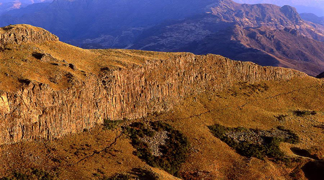 Breathtaking climbing at Abune Yosef Massif