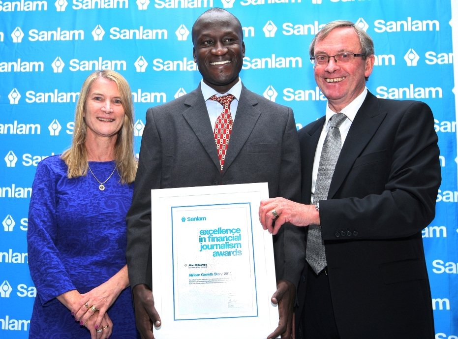 Kenyan journalist scoops African Growth Story Award at Sanlam Awards for Excellence in Financial Journalism