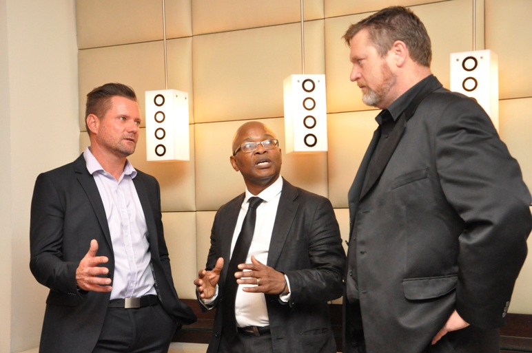 Left to right – Claude Schuck, Regional Manager for Africa at Veeam, discusses the launch of V-Club in Kenya with Patrick Maphopha, Africa Chief Technology Officer and Technology Evangelist at NetApp, and Gerhard Gibbs, Territory Manager for South Africa Coastal and Sub-Saharan Africa at Veeam. Veeam V-Club is a global event concept hosted by Veeam in association with alliance partners. It provides leading Chief Information Officers and IT executives a forum to discuss and share knowledge and experience about ensuring Availability for the Always-On Enterprise and current trends in the market impacting their IT environments.