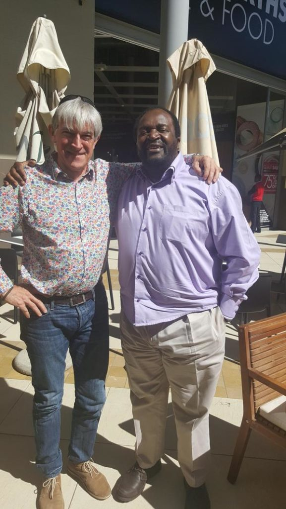 Dr James Makamba and Jon Harris