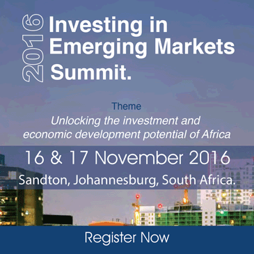 Investing in Emerging Markets Summit @ Sandton, Johannesburg