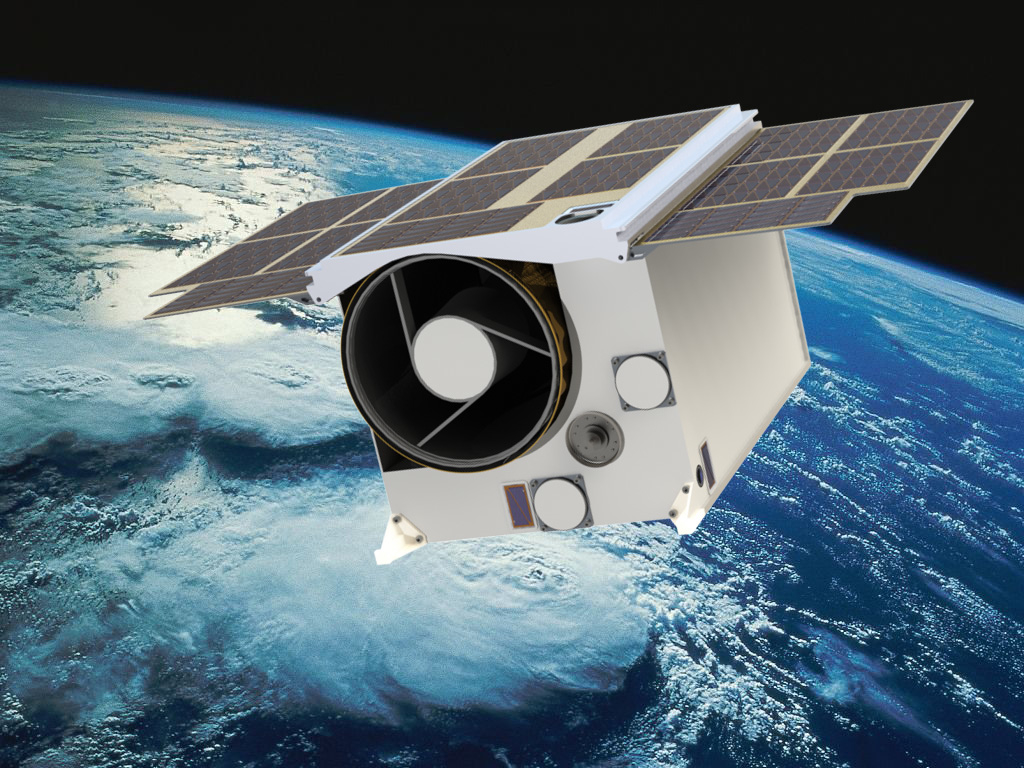 Artist's impression of the SCS Aerospace Group's Phoenix 20 satellite, which will extensively use off-the-shelf affordable NanoSat technology. It will serve as a platform for hyperspectral imaging using advanced optics, detectors, spectral filter technology and high-speed data capturing. For more, please visit www.scs-space.com/#products.