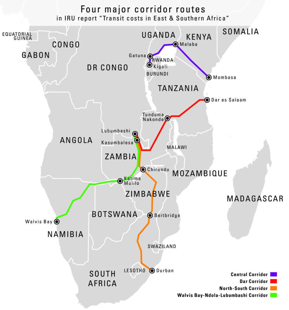 Map corridors - Transit costs report