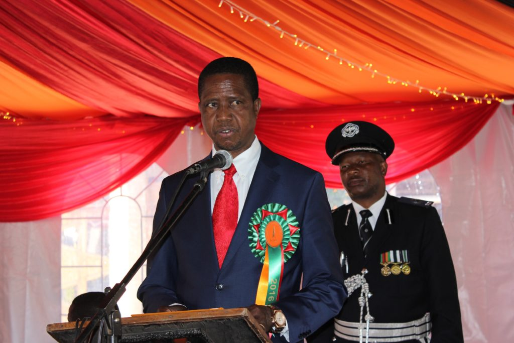 Zambia President Edgar Lungu sworn in after the August 11 Presidential election. FILE PICTURE: HUMPHREY NKONDE