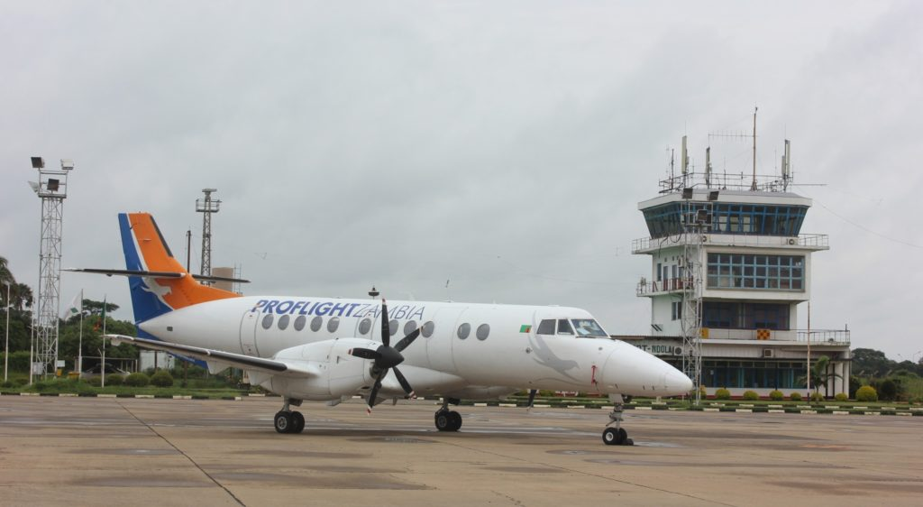 Picture caption: Proflight Zambia is the major scheduled airline in Zambia. Picture HUMPHREY NKONDE