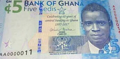 new GHS5 currency note